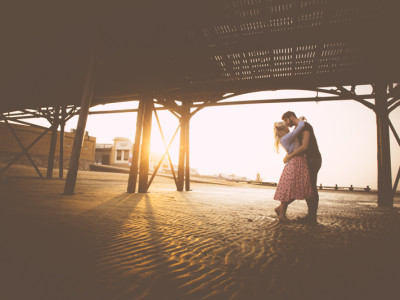 Cleethorpes Pre Wedding Photography with Lydia and Alex