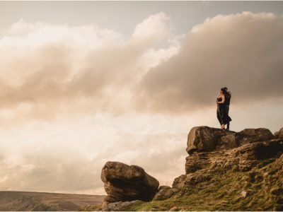 Peak District Sunset Engagement Shoot With Katie & Paul