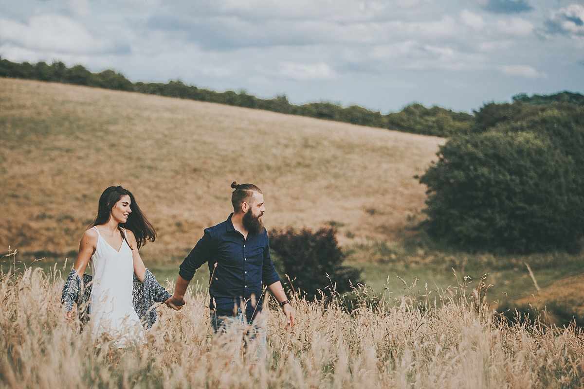Lincolnshire Wolds Engagement shoot 039